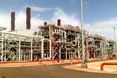 Natural gas facility in Amenas, Algeria.