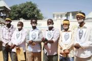 Journalists in Mogadishu protest the ongoing detention of freelance journalist Abdiaziz Abdinur Ibrahim.