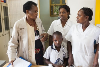 Margarida Matsinhe (left) has worked in vaccine delivery in Mozambique for more than 30 years.