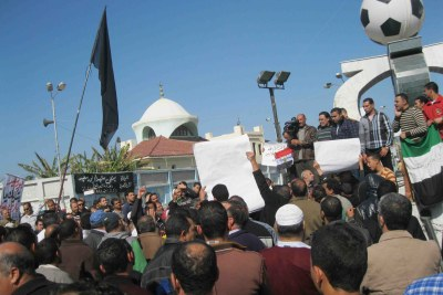 Demonstrators in Port Said.