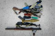A view of the weapons seized from suspected members of militia group, Al Shabaab (file photo).