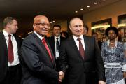 President Jacob Zuma with Russian President Vladimir Putin at the fifth Brics in Durban, South Africa.