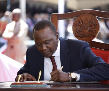 Uhuru Kenyatta Sworn in as Kenya's New  President