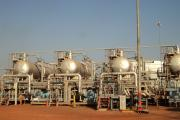 Oil storage facilities at Bentiu, Unity State..