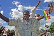 MDC-T youths at a rally before the 2013 polls.