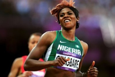 Nigerian athlete Blessing Okagbare.