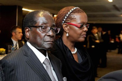 President Robert Mugabe and wife, Grace.