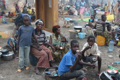 An IDP camp in Bangui.