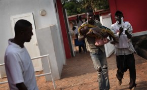 Central African Republic Crisis: A sick child receives treatment. Most humanitarian actors have evacuated their staff.
