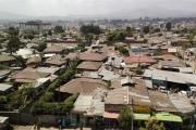An informal settlement in the Ethiopian capital Addis Ababa.