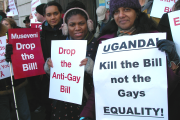 Protesters against Uganda Anti-Homosexuality Bill (file photo).