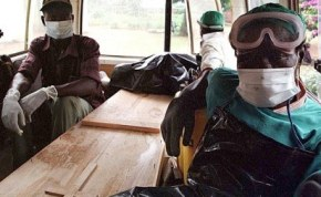 Combating the Ebola virus outbreak in Guinea.