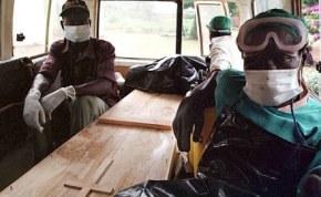 Battling Ebola virus  in Guinea.