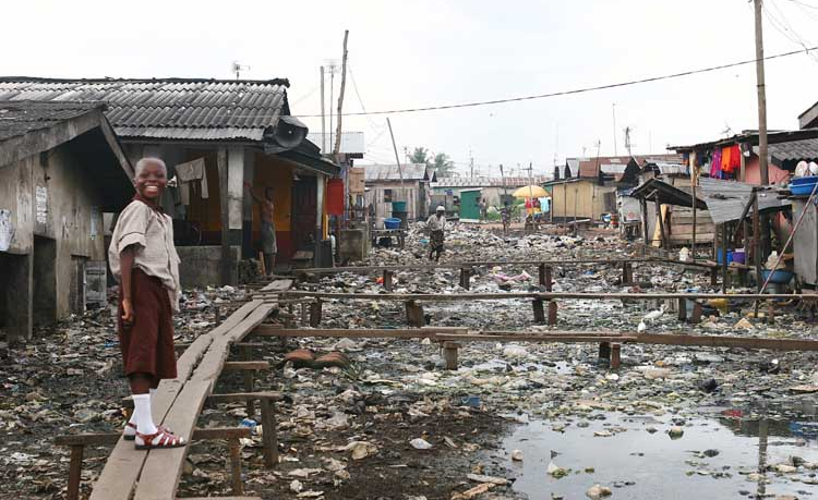 poverty in village by the sea
