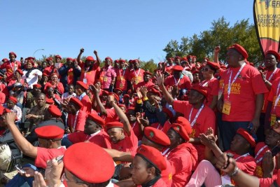Economic Freedom Fighters supporters (file photo).