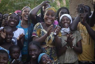 Young people in Gao, in northern Mali, where there is huge support for the country remaining a single nation.