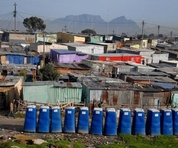 Toilets in Cape Town's Khayelitsha