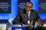 Rwanda President Paul Kagame at World Economic Forum in Davos January 2013 (file photo).