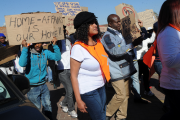 Protesters demonstrate during a march to the home affairs department (file photo).