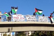 Uunversity of Cape Town students demonstrate their support for Palestine.