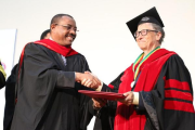 Bill Gates receiving an Honorary Doctoral Degree from Addis Ababa University.