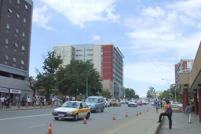 The capital of Lesotho, Maseru.