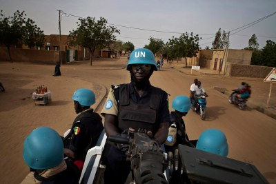 United Nations peacekeepers in Mali.