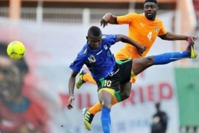 Taifa stars in action again the Elephants of Côte d'Ivoire. (file photo)