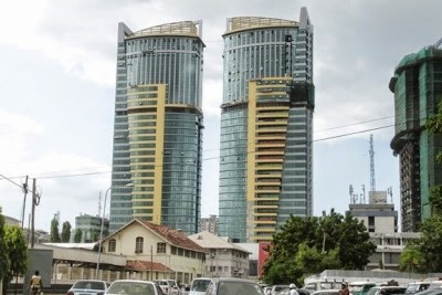 Some of the tall buildings in the Tanzania. (file photo)