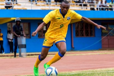The Rwanda's Amavubi Captain and striker Jaques Tuyisenge.