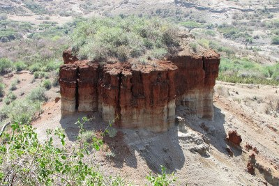 The Olduvai Gorge, a site in Tanzania that holds evidence of the earliest existence of mankind.