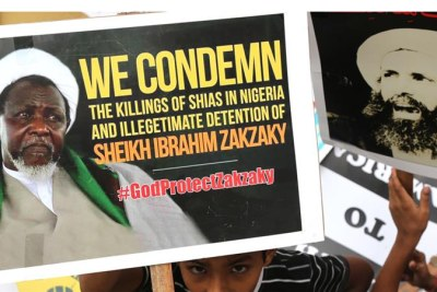 Protesters have condemned the killings and arrest in Nigeria of Ibrahim Zakzaky by the army.
