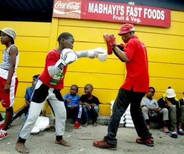 Boxing Brings Recreation to South African Township