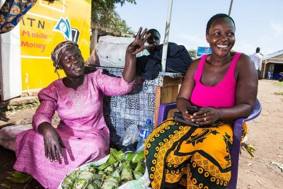 Traders in Elegu's main market, Uganda. Elegu, about 100kms north of Gulu, is a border town that is very important for Uganda's trade with South Sudan. In the last four years, TradeMarkEA has helped train 4,000 women on business and exports in Uganda.