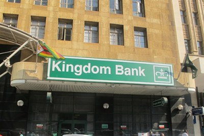 Kingdom Bank is one of major firms which closed down in Zimbabwe (file photo).