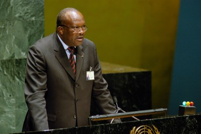 Burkina Faso's President, Roch Marc Christian Kaboré, at the UN.