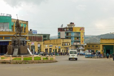 Downtown Gondar and the Ethiopia Hotel, Ethiopia.