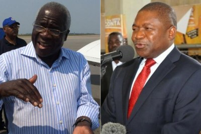 Former Rebel Leader Afonso Dlakama and Preident Nyusi
