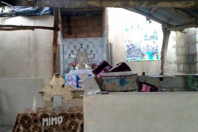 This church has been thrown into the limelight after its founder, Taiwo Francis, allegedly chained his nine-year-old son to a heavy log of wood in a room within the premises.