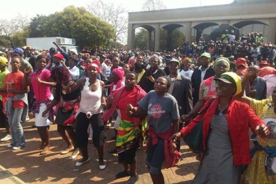 Zanu-PF Supporters at Party Headquarters