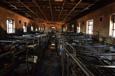 A dormitory that was gutted at the Nyahururu High School on July 27, 2016.