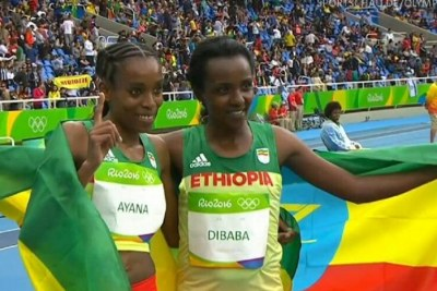 Ethiopian prodigy Almaz Ayana took gold and three-time gold medalist Tirunesh Dibaba took bronze.
