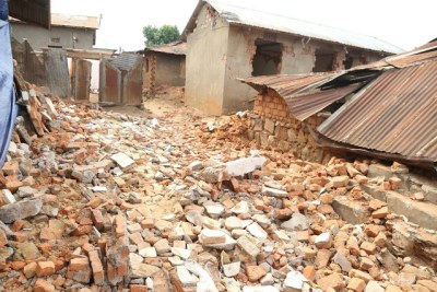 The aftermath of the earthquake in Tanzania.