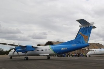 The Q400 planes manufacturer, Bombardier Inc planes in Tanzania.