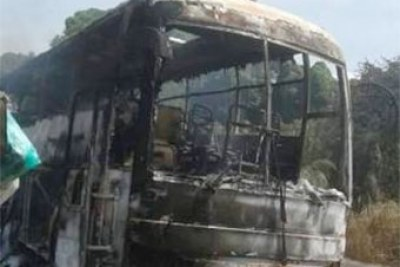 Eco bus was burnt during the previous attack.