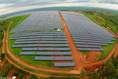 A Gigawatt solar power farm in Rwamagana District. Rwanda and other COMESA states face power generation gaps, which is affecting growth.