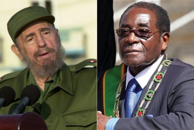 The late Fidel Castro and President Robert Mugabe.