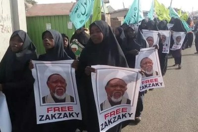 Shiites march to the National Assembly.