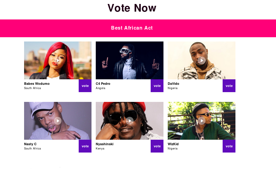 Africa: The 2017 MTV EMA Nominations Are Here! - allAfrica.com