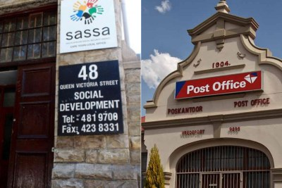 South African Social Security Agency office and a South African Post Office branch.